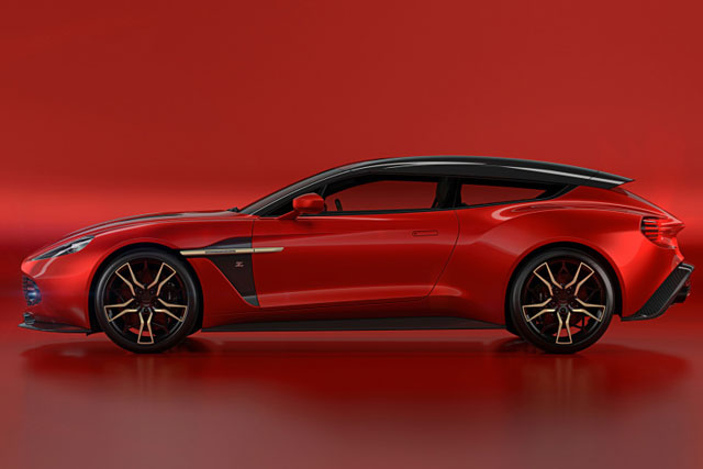 Aston Martin Vanquish Zagato Shooting Brake Finishes A Quartet Q Would Envy